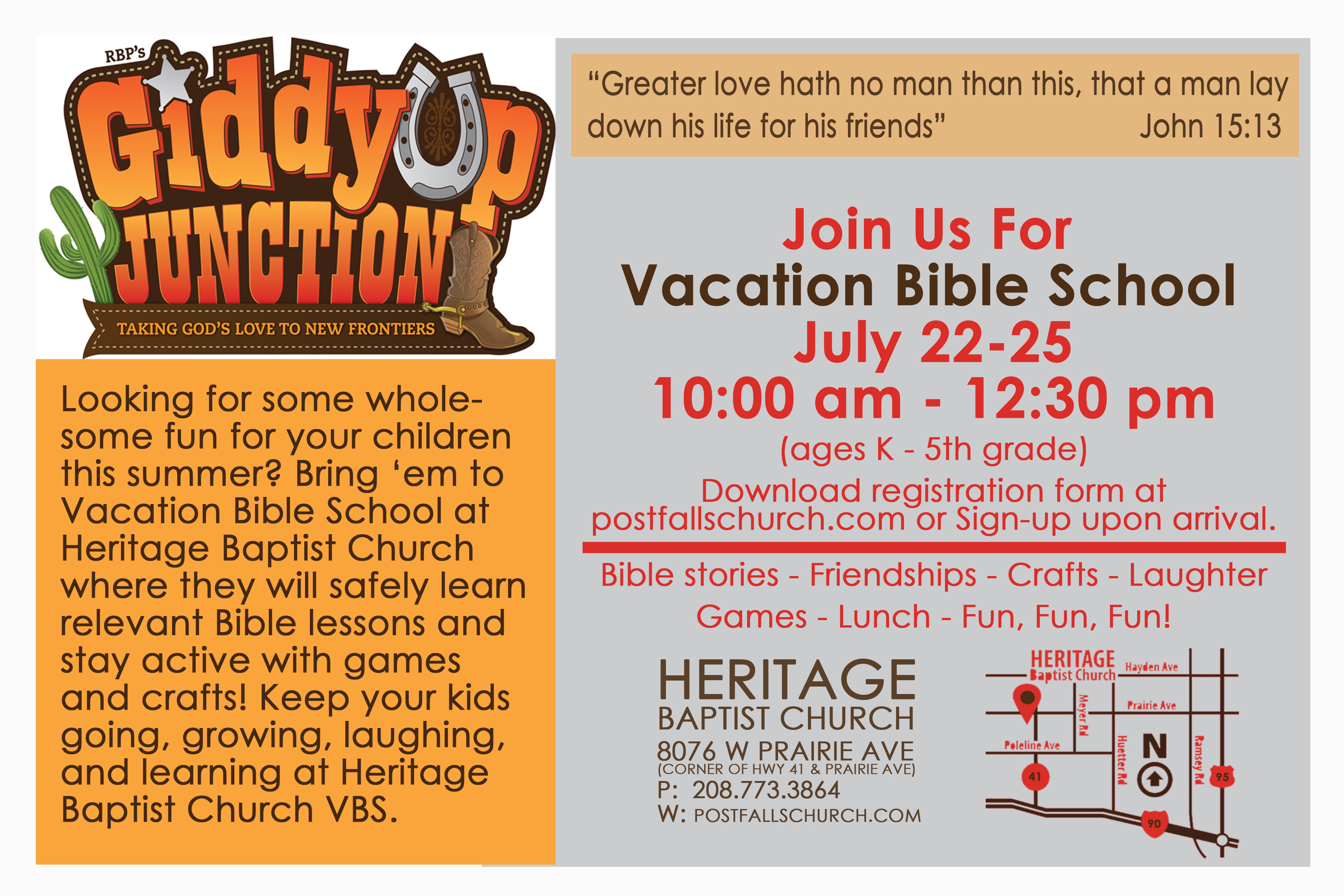 Vacation Bible School – Heritage Baptist Church